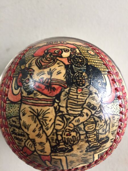 Pete Rose George Sosnak Ball Fully Painted Hit King Grail Autographed Museam Art