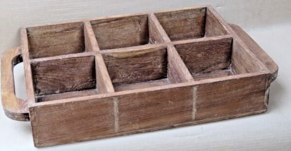 Wine Bottle Caddies Holders Wood Compartment Crates Basket shopper farmer tray 2