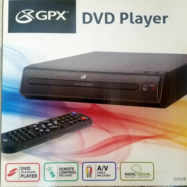 GPX D202B Progressive Scan 2 Channel DVD Player with Remote Control NEW
