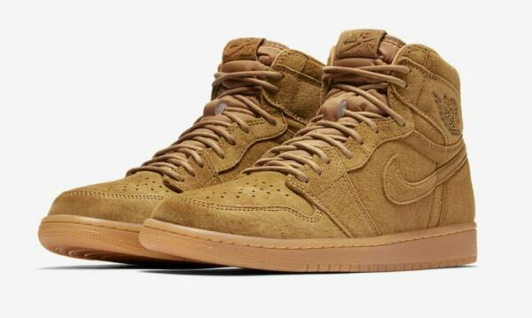 Nike Air Jordan 1 Retro High OG Wheat Size 10-12 Golden Harvest Gold 555088-710