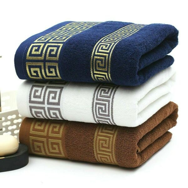 100% Cotton Face Towels Absorbent Cloth Bath Hand Beach Luxury Terry Towel New