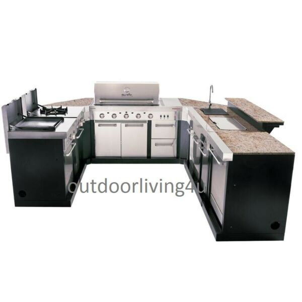 Ultimate Outdoor Kitchen w GRILL SINK REFRIGERATOR STOVEGRIDDLE