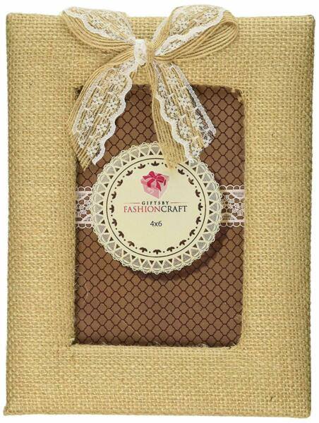 Fashioncraft Rustic Burlap Frame with Bow