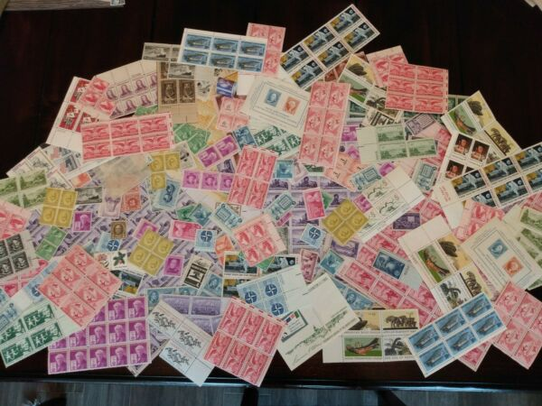 Lot of 25 Mint US Stamps Vintage MNH 50 80 Years Old