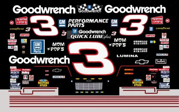 #3 Dale Earnhardt Sr. Goodwrench Lumina 1994 164th Scale Decals