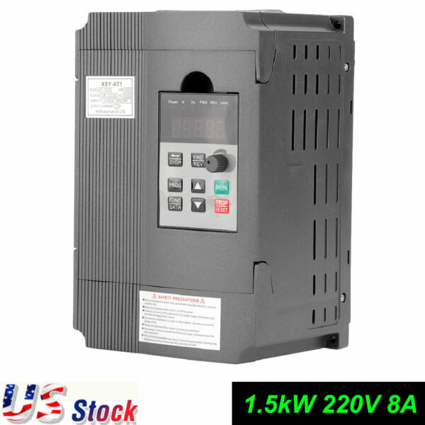 Adjustable-Frequency Drive VFD Speed Controller 220V for 3-phase 1.5kW AC Motor
