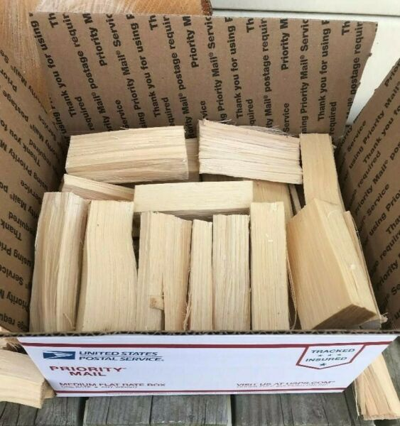 Hickory Wood Chunks for Smoking BBQ and Grilling - Free Priority Shipping