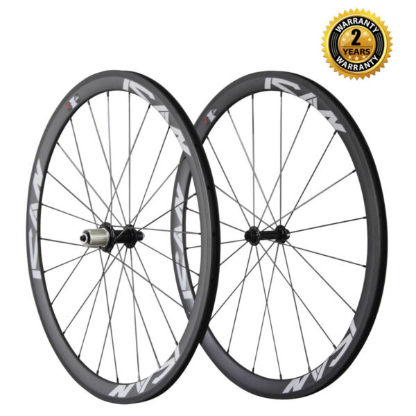 ICAN 38mm Sapim CX-Ray Spoke Carbon Clincher Road Bike Wheelset 11 Speed Shimano