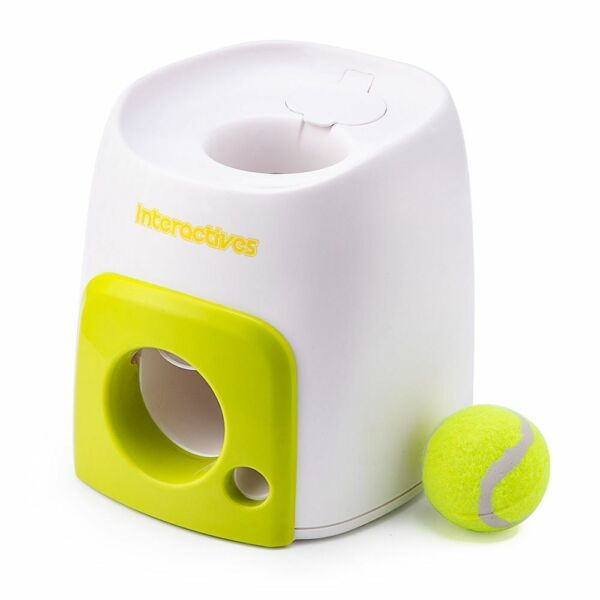 Automatic Pet Dog Launcher Tennis Ball Interactive Fetch Chucker Thrower Abs