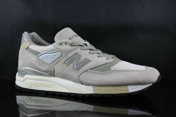 NEW BALANCE 998 CONNOISSEUR GUITAR GREY SILVER SIZE: 10