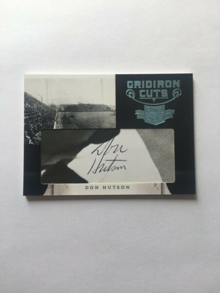 11 DON HUTSON HOF GREEN BAY PACKERS Autograph 2011 Gridiron Cuts (Deceased)