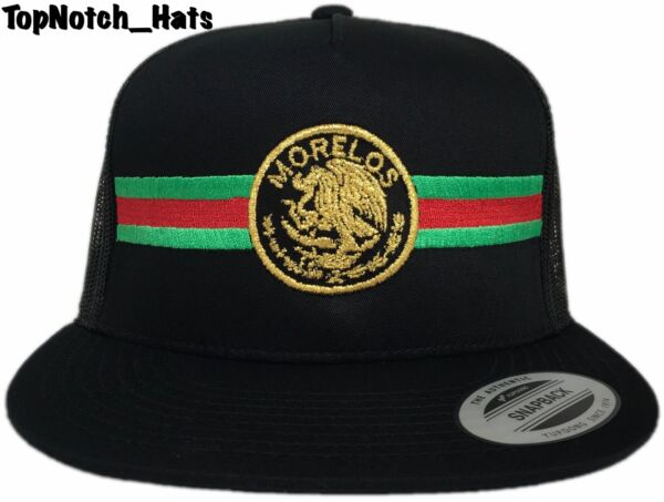 Morelos Federal RedGreenAnd Gold Trucker Hat Brand New Ships Now