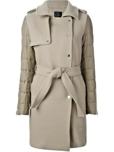 Hotel Particulier Nude wool blend padded panel coat. Color: natural size L