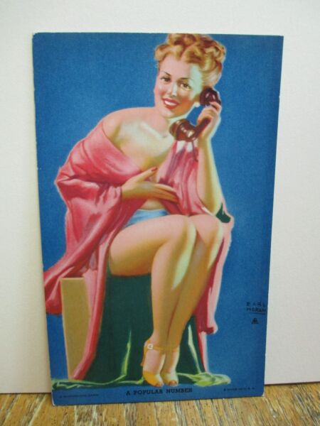 "Earl Moran Mutoscope Arcade Pin-Up Card ""A Popular Number"