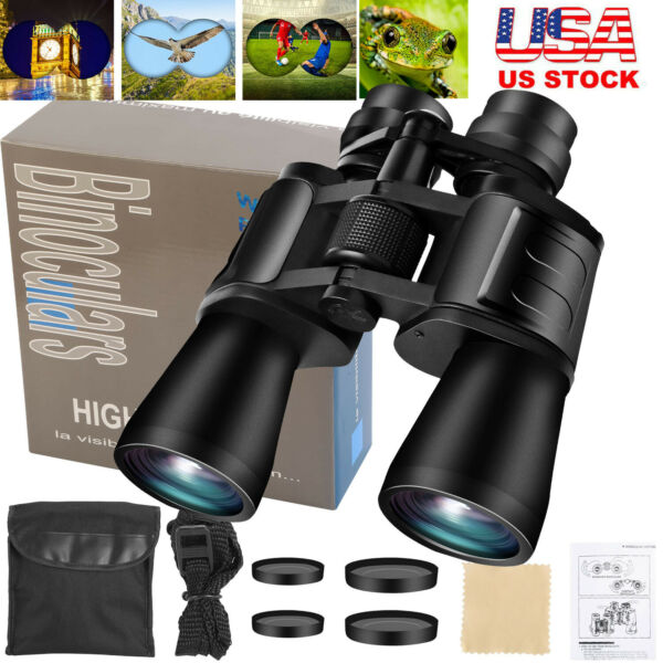 180x100 Zoom Day Night Vision Outdoor HD Binoculars Hunting Telescope Case New