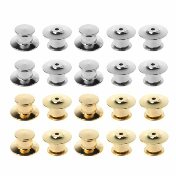 Metal Pins Keepers Safety Anti-lost Back Locking Clasp Jewelry Replacement 10Pcs