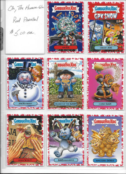 Garbage Pail Kids Oh The Horror-ible Red Border You-Pick from list $5.00 Each