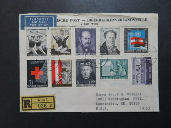 Austria 1963 Registered Cover to USA - Z8387