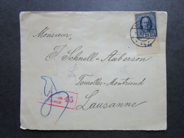 Austria 1917 Registered Cover to Lausanne  - Z7253