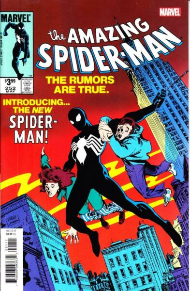 AMAZING SPIDER-MAN #252 FACSIMILE EDITION BLACK COSTUME VENOM LIKE THE ORIGINAL