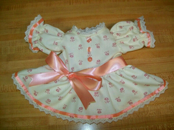ROSE PINK FLOWER PRINT RIBBON DRESS W LACE BUTTONS for 16+18