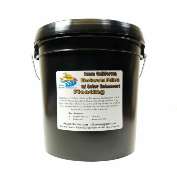 1 mm Floating California Blackworm Pellets with Color Enhancers and Vitamins $39.99