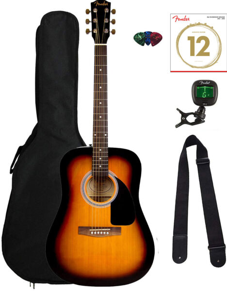 Fender FA-115 Dreadnought Acoustic Guitar - Sunburst w Gig Bag