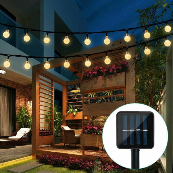 Solar Powered 30 LED String Light Garden Path Yard Decor Lamp Outdoor Waterproof $19.99