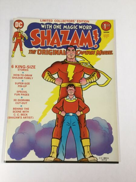 Shazam Treasury Size Limited Collectors#x27; Edition C 21 Summer 1973 DC Fn vf