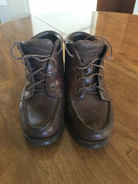 Timberland Womens Boots Lace Up Shoes Burgundy Leather 8.5 $40.00