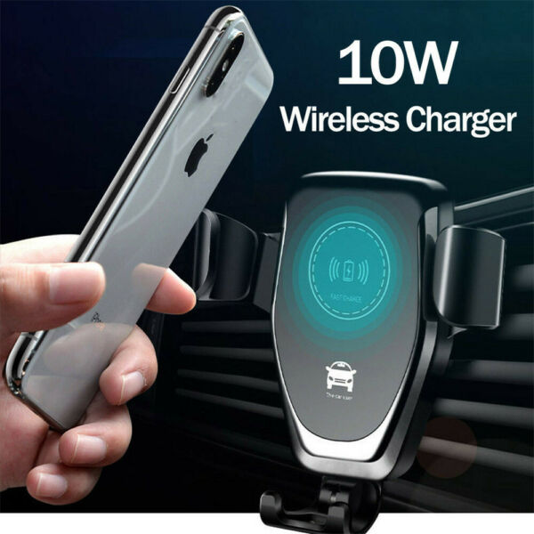 10W QI Wireless Fast Charger Car Mount Holder Stand For iPhone X XS Samsung S9 $9.98