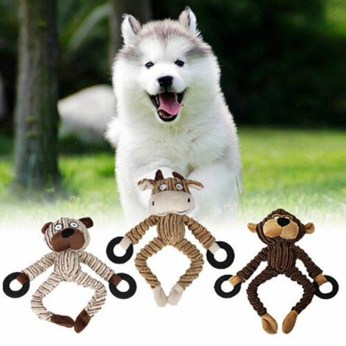 Cute Dog Toy Chew Squeaker Squeaky Vocal Animal Shaped Pet Puppy Gifts Game Fun