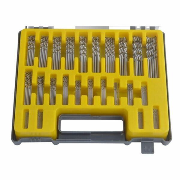 150pcs Mini Power High Speed Steel Twist Drill Bit Kits Set 0.4-3.2mm W Case