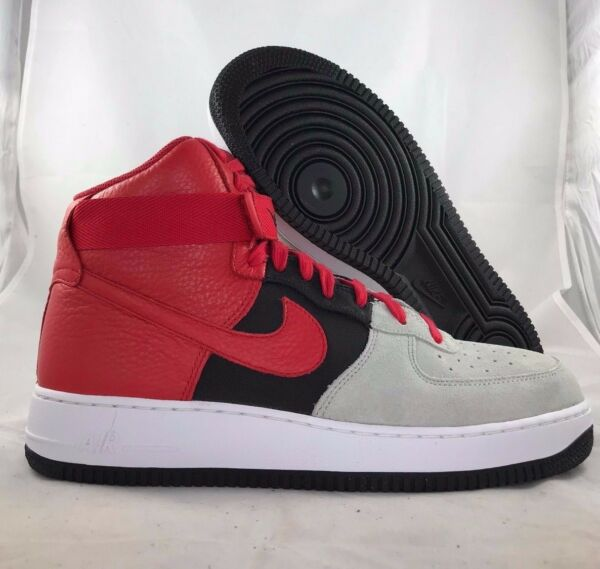 Nike Air Force 1 One High '07 LV8 Wolf Grey Red Black 806403-007 Men's 11.5