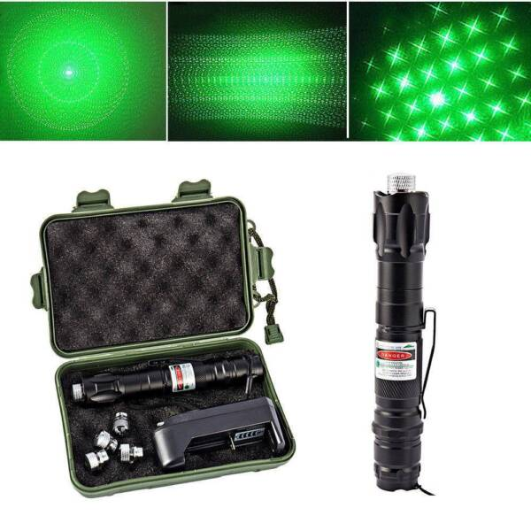 50Mile 303 High Power Green Laser Pointers Lazer Pen 5MW Burning Light Set