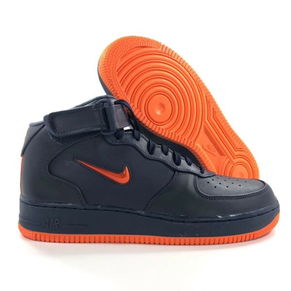Nike Air Force 1 Mid Retro PRM QS NYC Finest Navy Blue AO1639-400 Men's 10-11.5