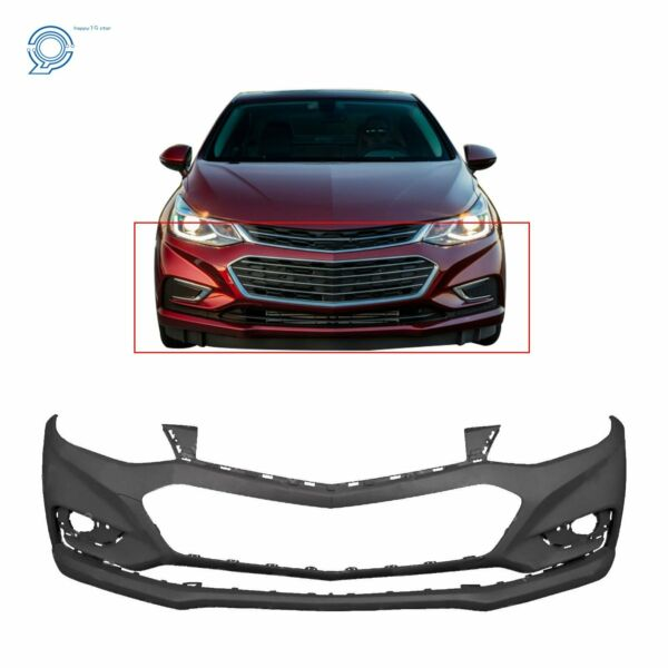 Primered Front Bumper Cover for 2016-2018 Chevy Cruze wo Park Assist 16-18