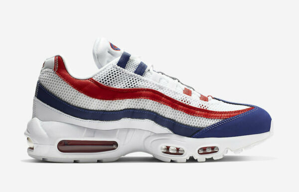 Nike Air Max 95 OG USA 2019 White Gym Red Deep Royal Blue CJ9926-100 Sz 7.5-13