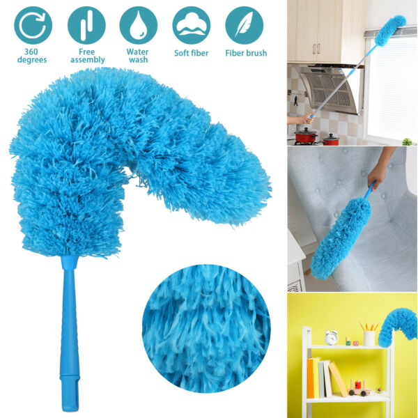 Bendable Soft Microfiber Duster Dusting Brush Household Cleaning Tool Washable