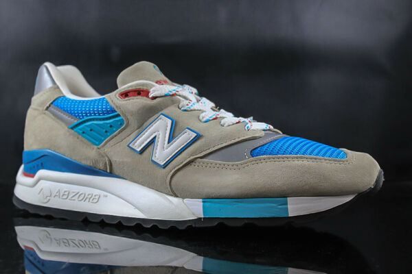 MENS RUNNING SHOES NEW BALANCE M998CSB GREY BLUE TEAL SIZE: 9.5