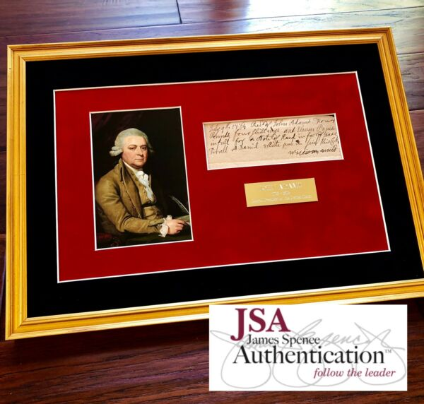JOHN ADAMS * JSA COA * Scarce AUTOGRAPH Handwritten Note SIGNED * 2nd President