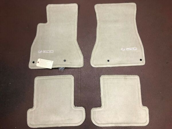 LEXUS SC430 2002-2009 4 PCS CARPET FLOOR MATS  ECRU PT208-24010-20