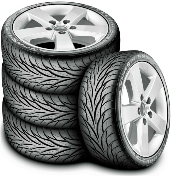 4 New Federal Super Steel 595 225 45R17 91V All Season Tires