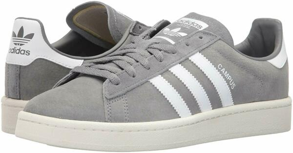 Adidas Men's Campus Casual Sneakers Grey/White/Chalk White Size 12.0M