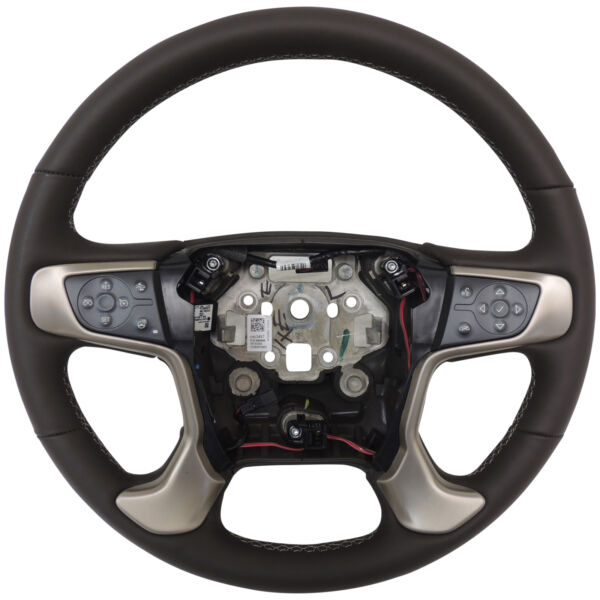 23423497 Cocoa Brown Heated Leather Steering Wheel '15 Chevy Silverado 25003500