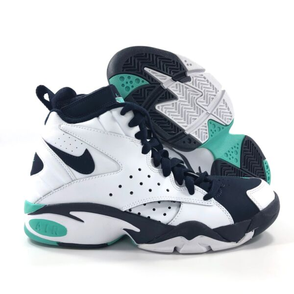 Nike Air Maestro II LTD White Hyper Jade Green Navy Blue AH8511-100 Mens 10.5-12