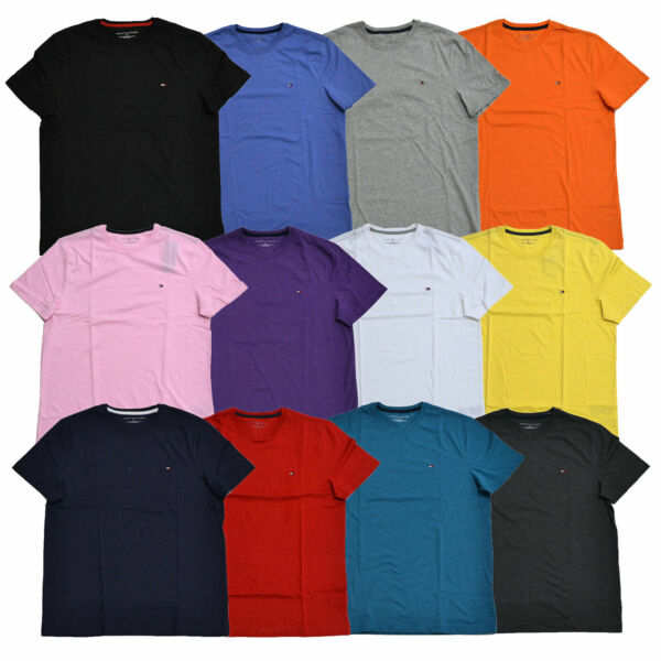 Tommy Hilfiger T Shirt Mens Crew Neck Tee Classic Fit Short Sleeve Solid Shirt $19.99