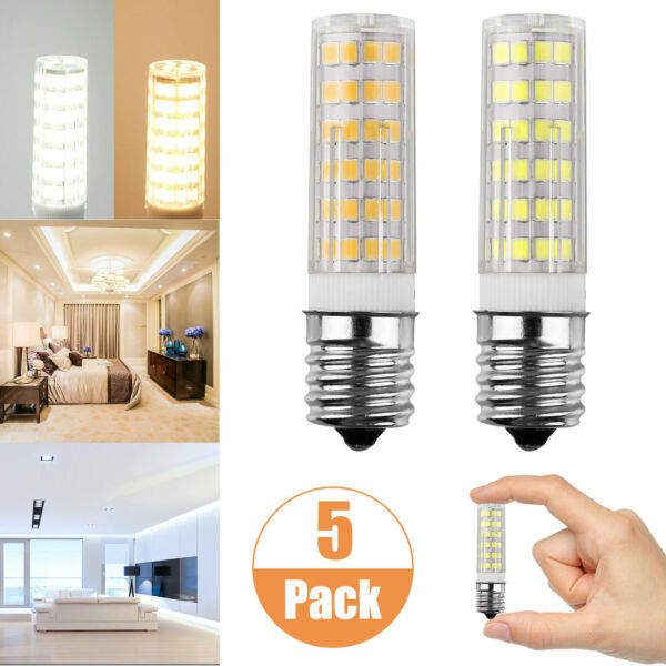 E17 LED Dimmable Intermediate Base Microwave 7W Appliance Light Bulb 5 Pack