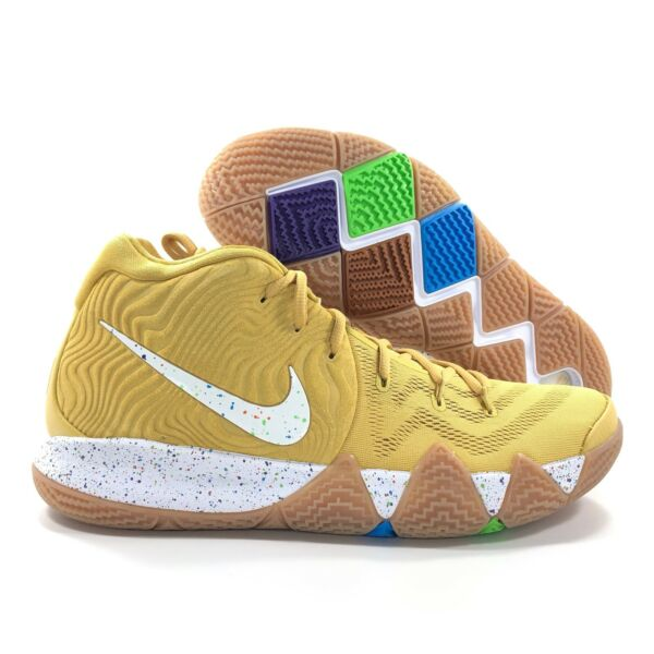 Nike Kyrie 4 CTC Cinnamon Toast Crunch Gold White Blue BV0426-900 Men's 14