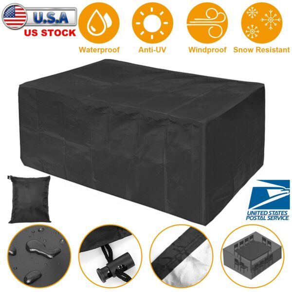 Waterproof Dustproof Patio Furniture Covers Rectangle Table Rain Cover Outdoor $17.51